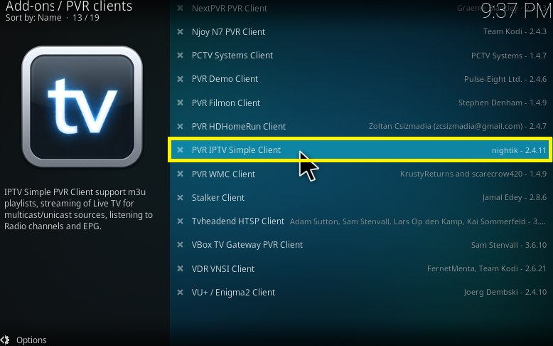 PVR IPTV Simple Customer